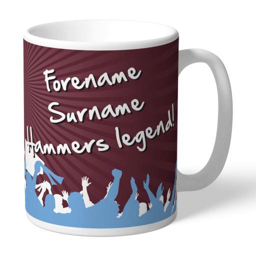Personalised West Ham United FC Legend Mug.