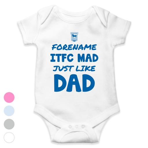 Ipswich Town FC Mad Like Dad Baby Bodysuit