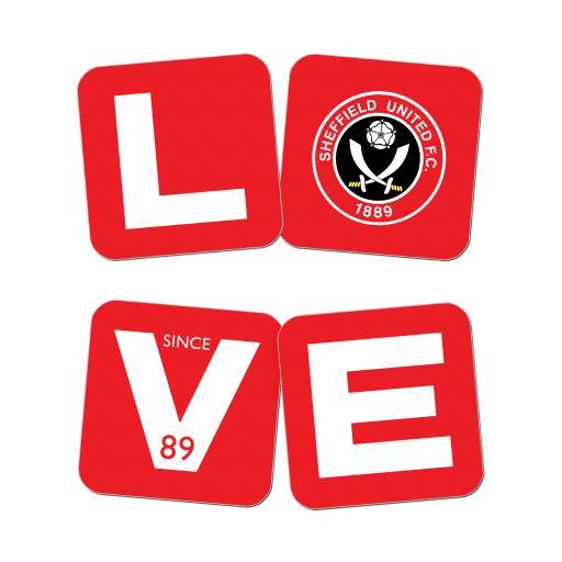 Sheffield United Love Coasters (x4)