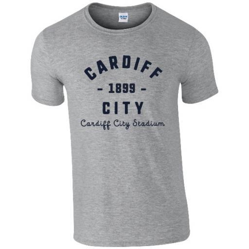 Personalised Cardiff City FC Stadium Vintage T-Shirt.