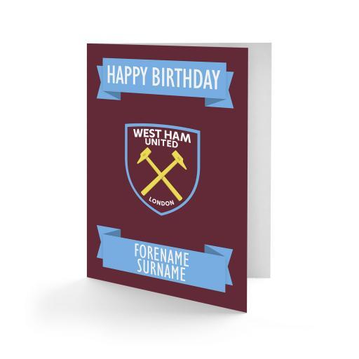 West Ham United FC Crest Birthday Card