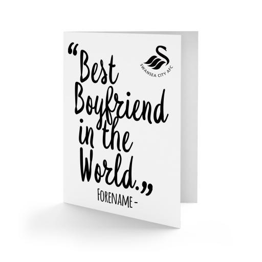 Swansea City AFC Best Boyfriend In The World Card