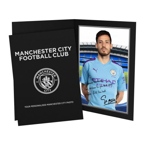 Manchester City FC Silva Autograph Photo Folder