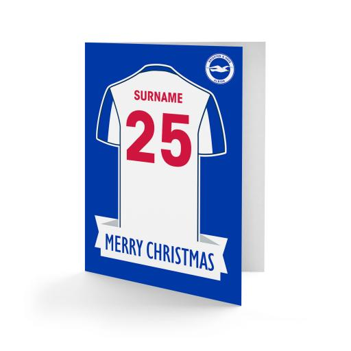 Brighton & Hove Albion FC Shirt Christmas Card