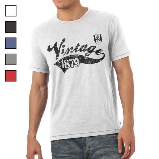 Fulham FC Mens Vintage T-Shirt