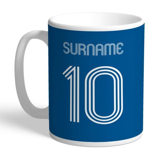 Personalised Leeds United FC Retro Shirt Mug.