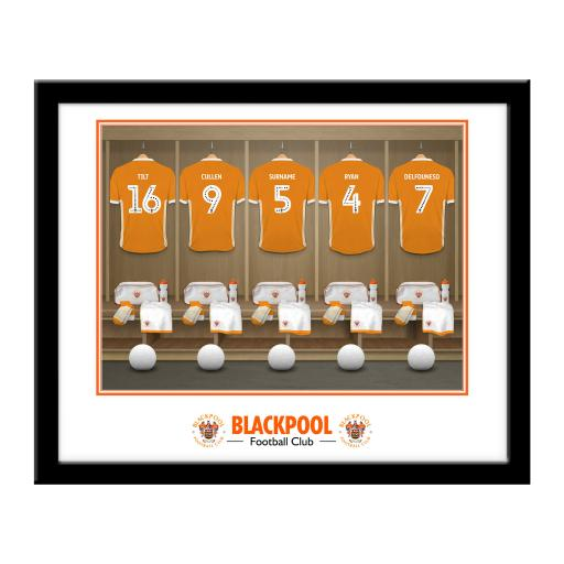 Blackpool FC Dressing Room Framed Print