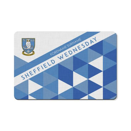 Personalised Sheffield Wednesday FC Patterned Floor Mat.