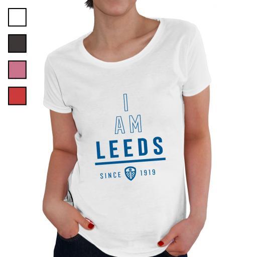 Personalised Leeds United FC I Am Ladies T-Shirt.