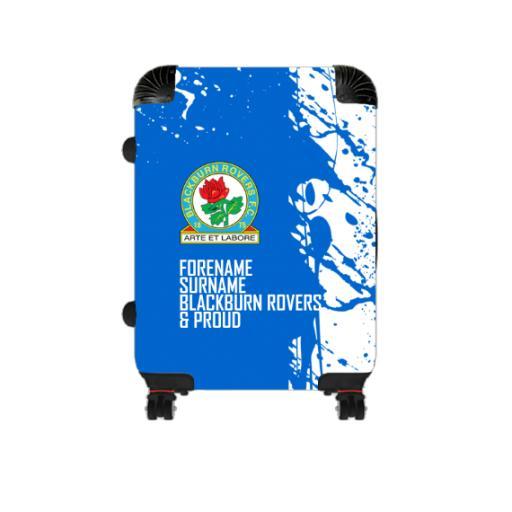 Personalised Blackburn Rovers Proud Cabin Suitcase.