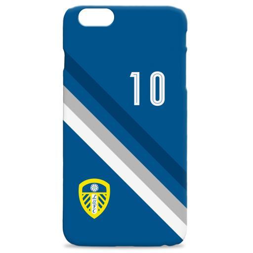 Personalised Leeds United Stripe Hard Back Phone Case.