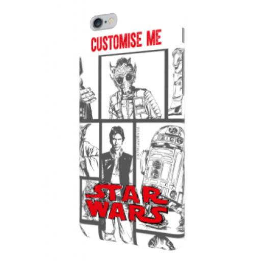 Star Wars Classic Grid Print iPhone 6+/6s+ Clip Case