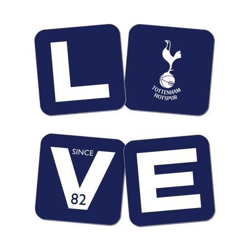Tottenham Hotspur Love Coasters (x4)