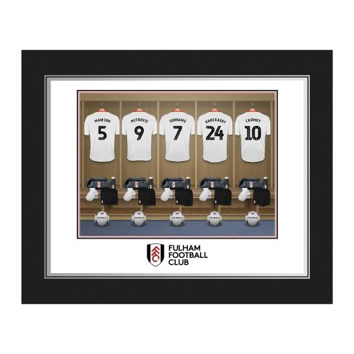 Personalised Fulham FC Dressing Room Photo Folder.