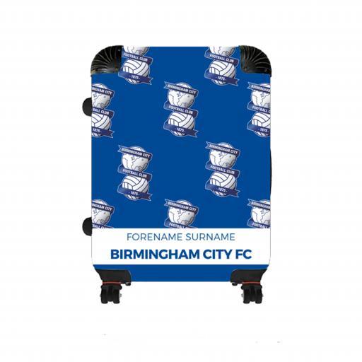 Personalised Birmingham City Mini Crest Medium Suitcase.
