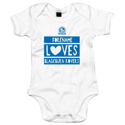 Personalised Blackburn Rovers FC Loves Baby Bodysuit.