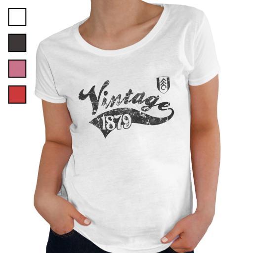 Fulham FC Ladies Vintage T-Shirt