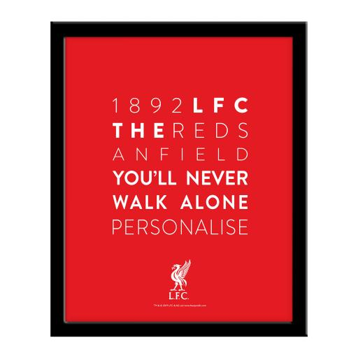 Liverpool FC Word Collage Framed Print