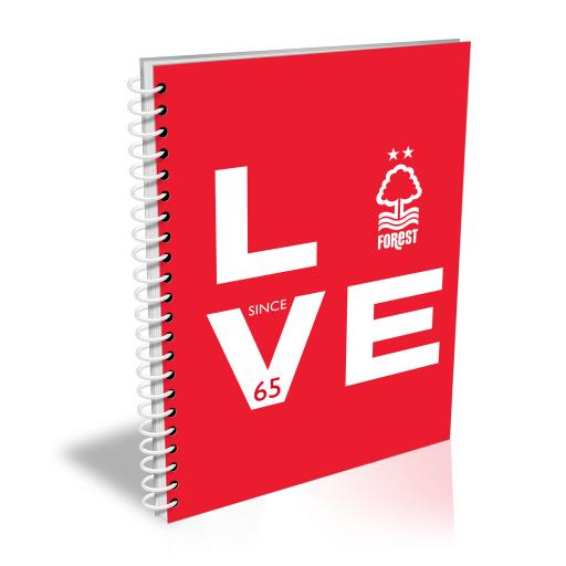Nottingham Forest Love Notebook