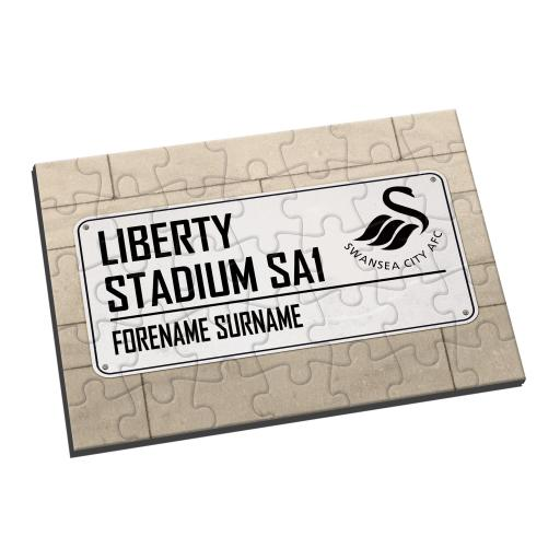 Swansea City AFC Street Sign Jigsaw