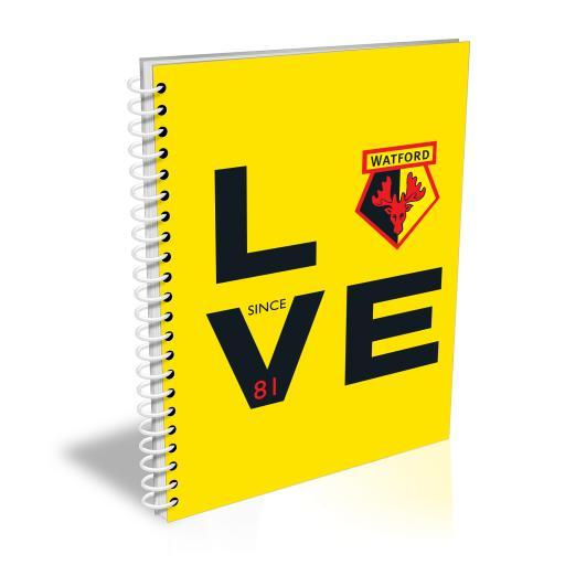 Watford FC Love Notebook