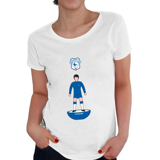 Cardiff City Player Figure Ladies T-Shirt