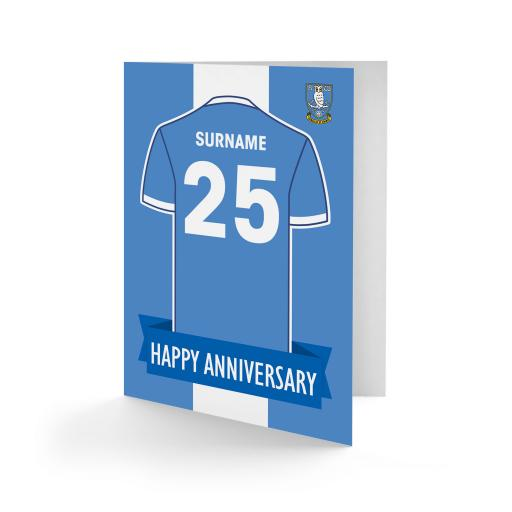 Sheffield Wednesday FC Shirt Anniversary Card