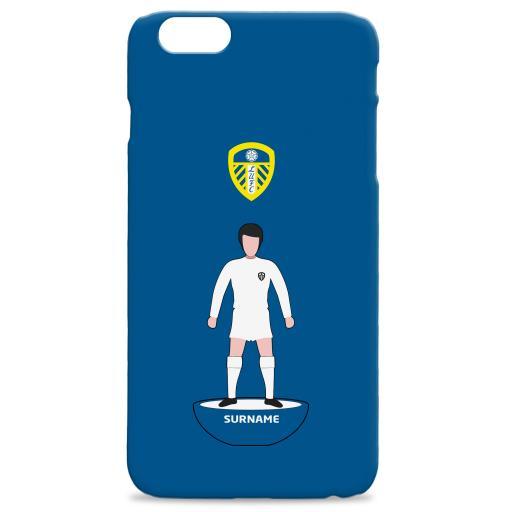 Personalised Leeds United Player Figure Hard Back Phone Case.