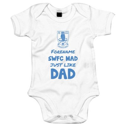 Sheffield Wednesday FC Mad Like Dad Baby Bodysuit