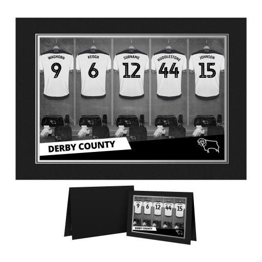 Derby County 9x6 Dressing Room Photo Folder