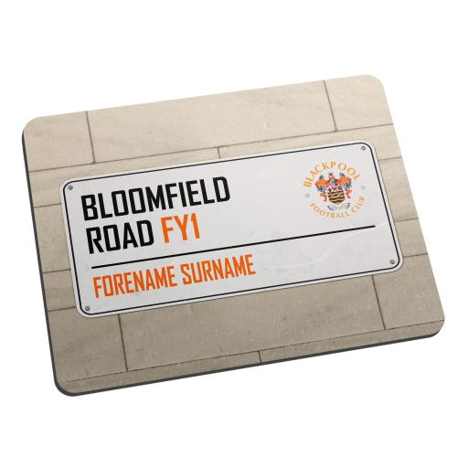 Blackpool FC Street Sign Mouse Mat