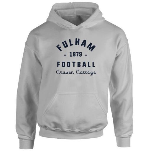 Personalised Fulham FC Stadium Vintage Hoodie.
