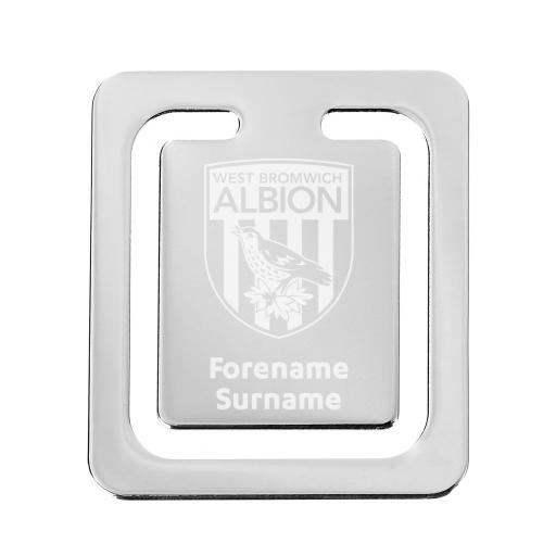 Personalised West Bromwich Albion FC Crest Bookmark.