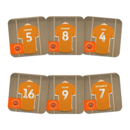 Personalised Blackpool FC Dressing Room Coasters.