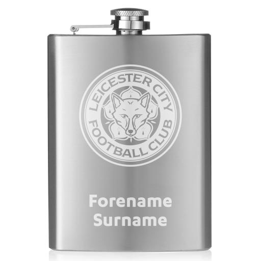 Leicester City FC Crest Hip Flask