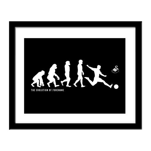 Swansea City AFC Evolution Print