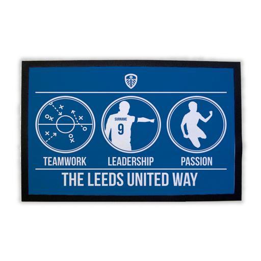 Leeds United FC Way Door Mat