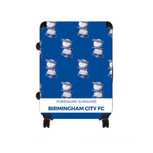 Personalised Birmingham City Mini Crest Large Suitcase.