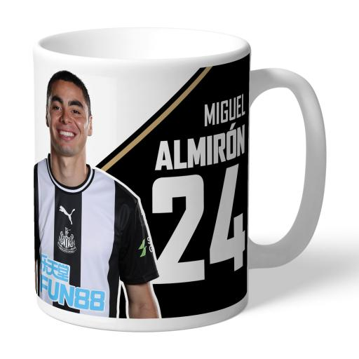 Personalised Newcastle United FC Almiron Autograph Mug.