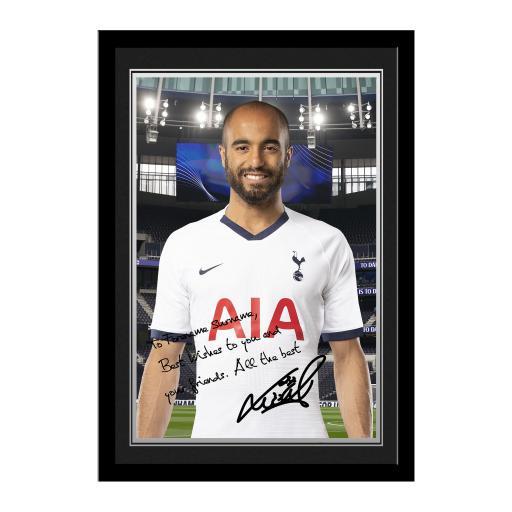 Tottenham Hotspur Moura Autograph Photo Framed