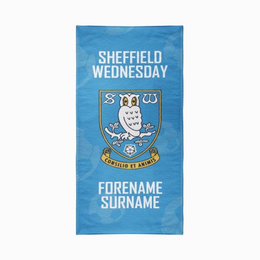 Sheffield Wednesday FC Crest Design Towel - 70cm x 140cm