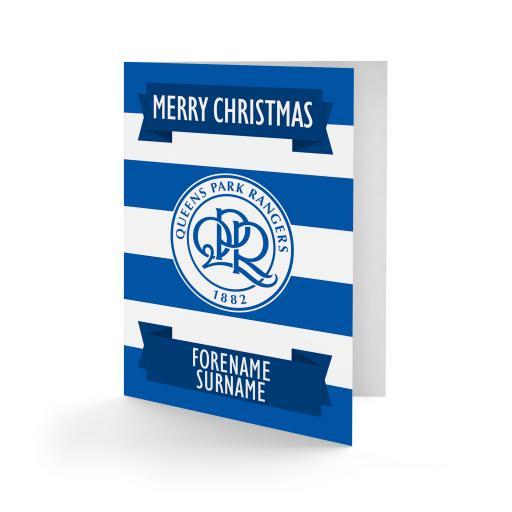 Queens Park Rangers FC Crest Christmas Card