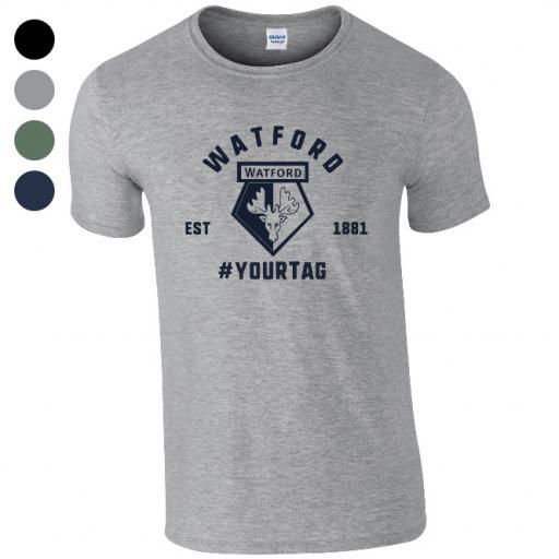 Watford FC Vintage Hashtag T-Shirt