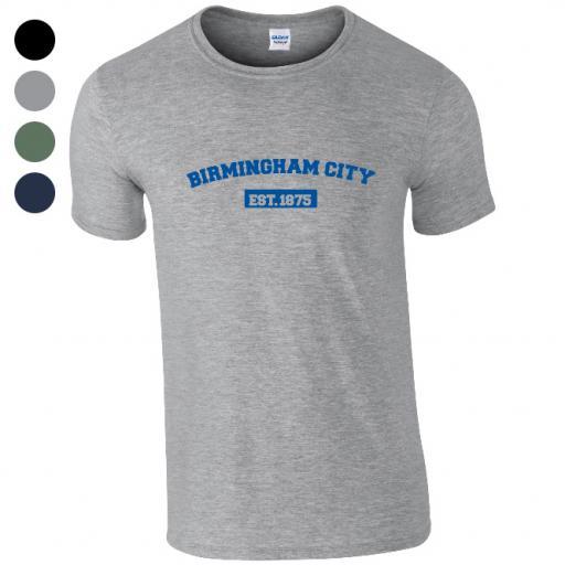 Personalised Birmingham City FC Varsity Established T-Shirt.