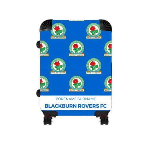 Personalised Blackburn Rovers Mini Crest Cabin Suitcase.