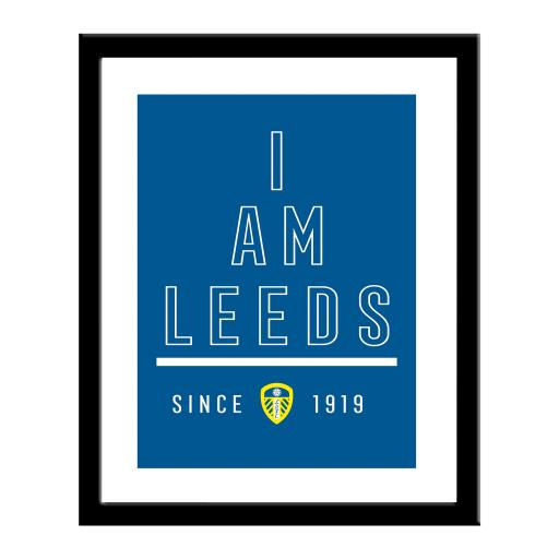 Personalised Leeds United FC I Am Print.