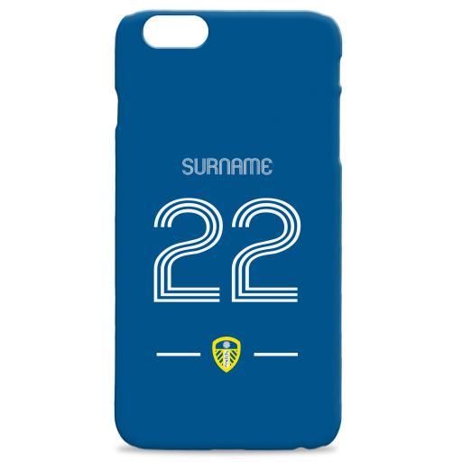 Personalised Leeds United Retro Shirt Hard Back Phone Case.