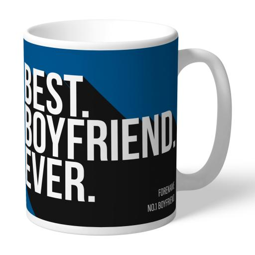 Personalised Leeds United Best Boyfriend Ever Mug.