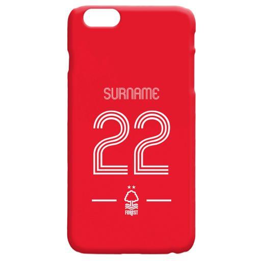 Nottingham Forest Retro Shirt Hard Back Phone Case