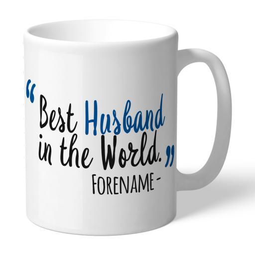 Personalised Birmingham City Best Husband In The World Mug.